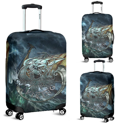 1stIceland Viking Luggage Cover, Odin Norse Mythology Drakkar Z4 - 1st Iceland