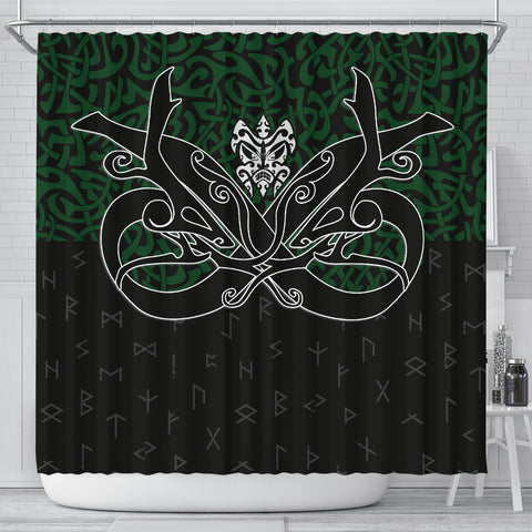 Image of 1stIceland Shower Curtain, Celtics Dragon Tattoo Th00 - 1st Iceland