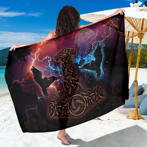 1stIceland Viking Sarong , Mjolnir Huggin And Muninn - 1st Iceland