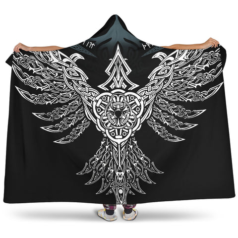 1stIceland Viking Hooded Blanket, Raven Th00 - 1st Iceland