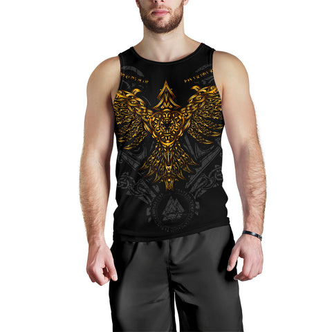 Image of 1stIceland Viking Huginn Gold Men's Tank Top TH12 - 1st Iceland