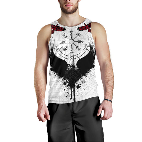 Raven Of Odin Men Tank Top Fascinating Viking Vegvisir K13 - 1st Iceland