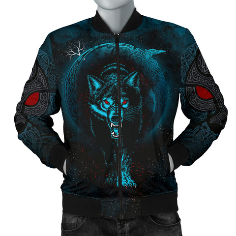 1stIceland Viking Men's Bomber Jacket Moon Wolf TH12 - 1st Iceland