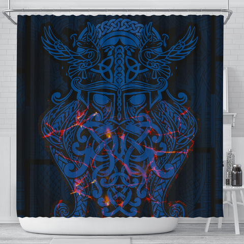 Image of Vikings Shower Curtain, Odin The All Father Th00 - 1st Iceland