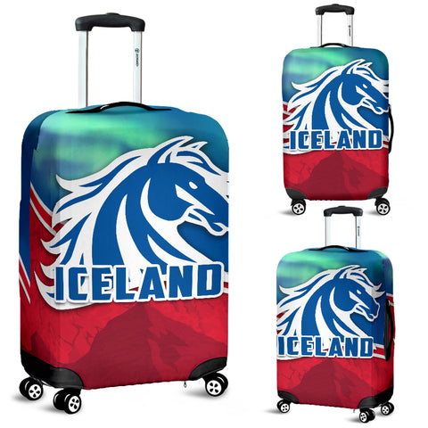 Image of 1stIceland Icelandic Horse Luggage Covers Aurora Mountain K4 - 1st Iceland