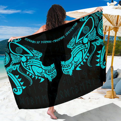1stIceland Viking Sarong, Fenrir Tattoo The Ragnarok - Blue K4 - 1st Iceland