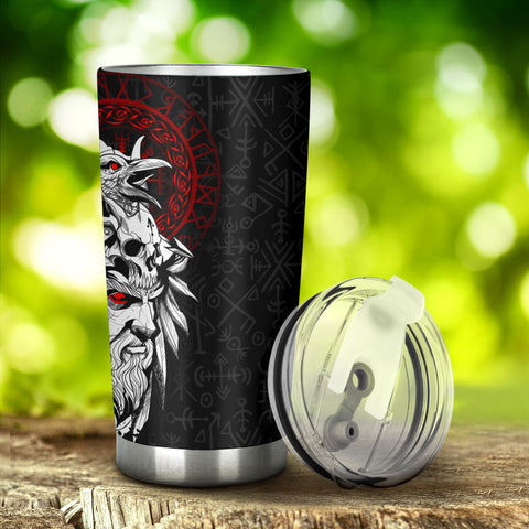 1stIceland Viking Odin And Raven Tumbler