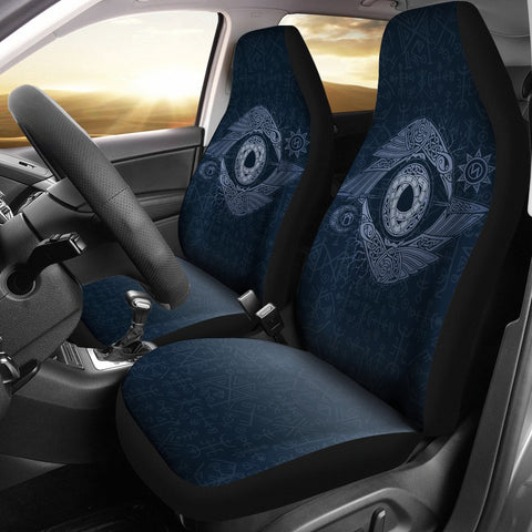 1stIceland Viking Car Seat Covers, Odin's Eye Raven Futhark Norse Nn8 - 1st Iceland