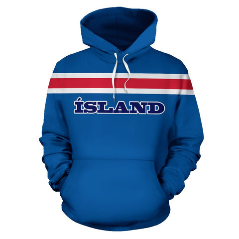 1stIceland Football Pullover Hoodie, Iceland Coat Of Arms A0 - 1st Iceland