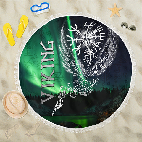 1stIceland Viking Beach Blanket Northern Lights
