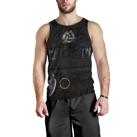 Image of 1stIceland Viking Men's Tank Top, New Valknut 3D Armour TH00 - 1st Iceland