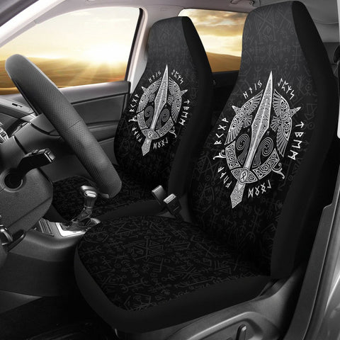 1stIceland Viking Car Seat Covers, Odin's Spear Runes Futhark Norse Nn8 - 1st Iceland