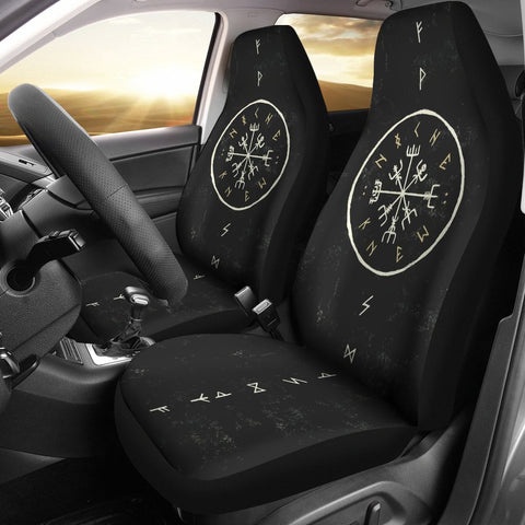 1stIceland Viking Car Seat Covers, Vegvisir Runes Circle Bn04 - 1st Iceland