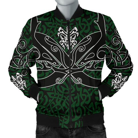 1stIceland Celtic Bomber Jacket for Men, Celtics Dragon Tattoo Th00 - Green - 1st Iceland
