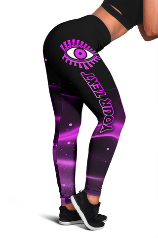 (Custom Personalised) 1stIceland Evil Eye Women Leggings Original Style - Pink K8 - 1st Iceland