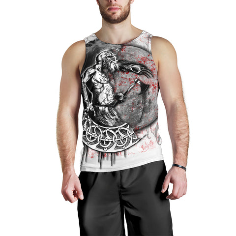 Image of 1stIceland Viking Berserker Men's Tank Top Tattoo TH12 - 1st Iceland