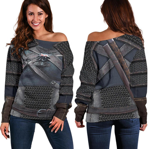Image of 1sticeland Off Shoulder Sweater, New Witcher Armor TH00 - 1st Iceland
