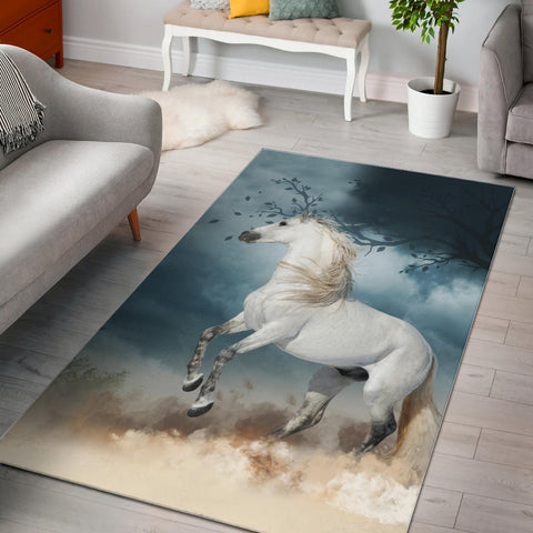 Spanish Horse Area Rug Andalusian Horse In The Dust K13 - 1st Iceland