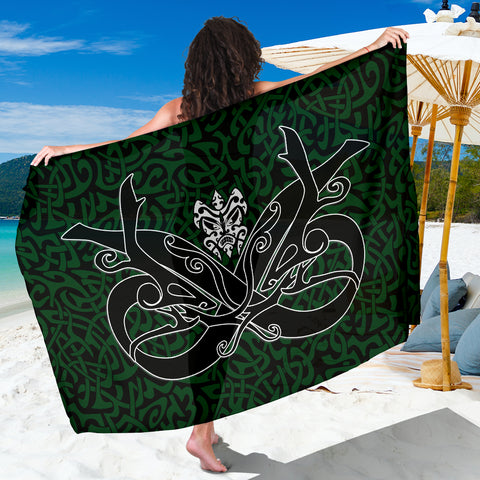 1stIceland Celtic Sarong, Celtics Dragon Tattoo Th00 - Green - 1st Iceland