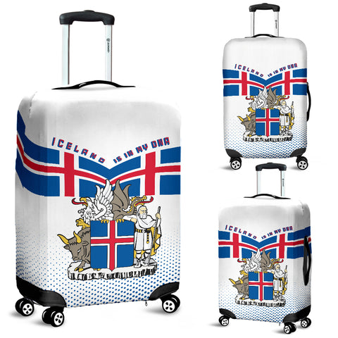 1stIceland Luggage Cover, Iceland Coat Of Arms Is In My DNA K7 - 1st Iceland