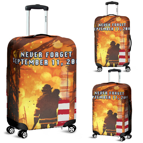 Image of 1stIceland American Firefighters Luggage Covers 9.11.01 Never Forget K8 - 1st Iceland