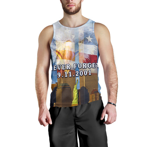 1stIceland American Firefighters Men's Tank Top 9.11.01 Gratitude K8 - 1st Iceland
