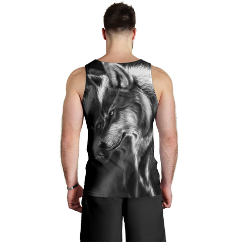 1stIceland Tattoo Wolf 3D Men's Tank Top TH12 - 1st Iceland