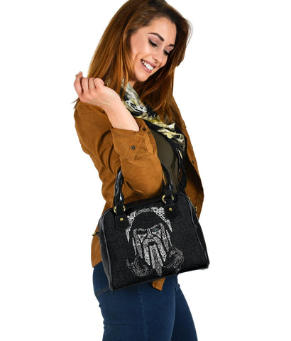1stIceland Viking Shoulder Handbag, Odin's Eye with Raven K4 - 1st Iceland