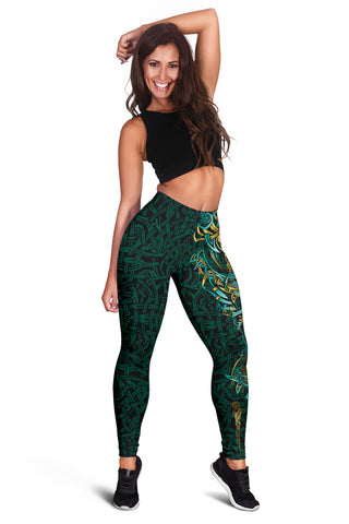 1stIceland Viking Women's Leggings, Fenrir The Vikings Wolves Th00 - 1st Iceland
