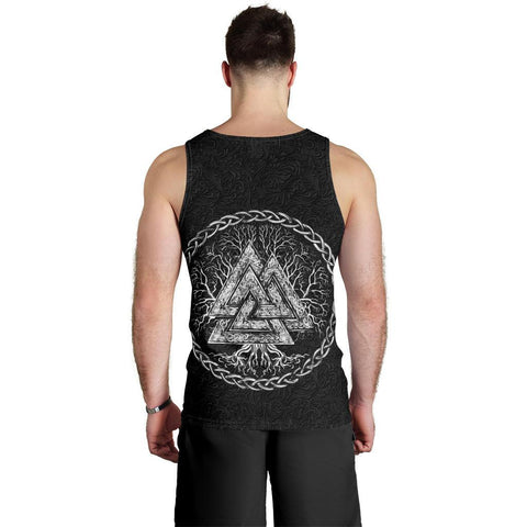Image of 1stIceland Viking Men's Tank Top, Fenrir Skoll And Hati Valknut TH00 - 1st Iceland