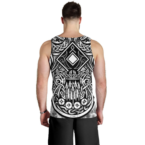 1stIceland Viking Men's Tank Top Raven And Drakkar TH12 - 1st Iceland