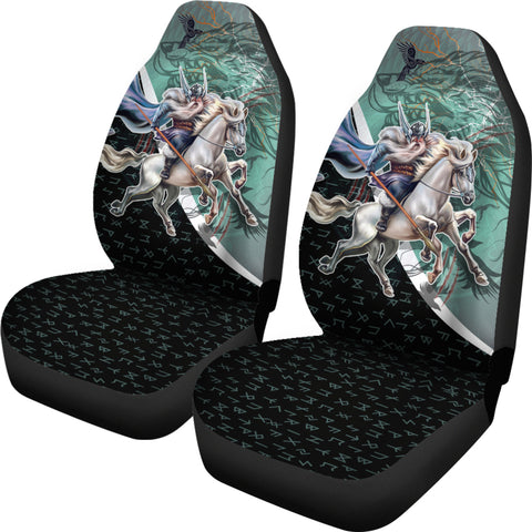 Image of The Viking Runes Car Seat Covers Odin And Sleipnir K13 - 1st Iceland
