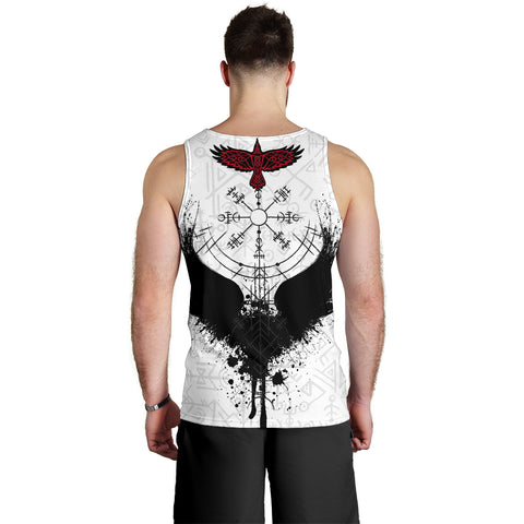 Image of Raven Of Odin Men Tank Top Fascinating Viking Vegvisir K13 - 1st Iceland