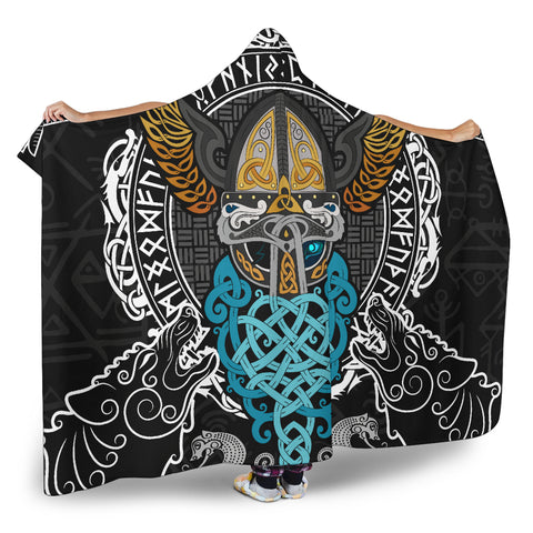 1stIceland Viking Hooded Blanket, Odin Helmet Valnut Helm Of Awe Odin A7 - 1st Iceland
