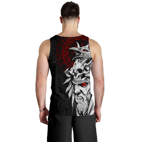 1stIceland Viking Odin And Raven Men Tank Top TH12