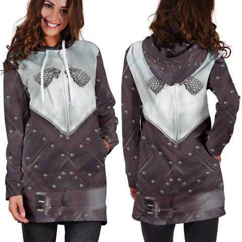 1sticeland Hoodie Dress, 3D Arya Stark Armor All Over Print - 1st Iceland