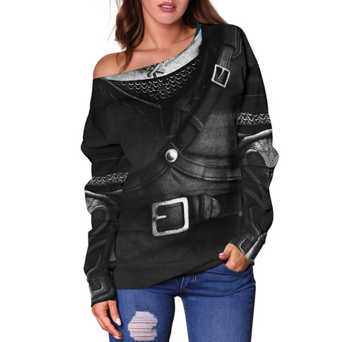 1sticeland Off Shoulder Sweater, 3D Dark Link Costume All Over Print - 1st Iceland