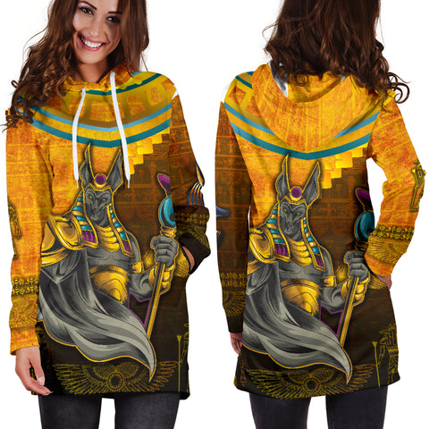 Image of 1stIceland Anubis Women Hoodie Dress Egyptian God K8 - 1st Iceland