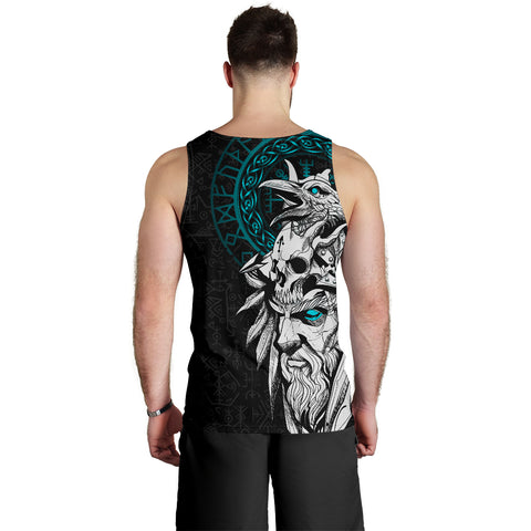 1stIceland Viking Odin And Raven Turquoise Men's Tank Top TH12 - 1st Iceland