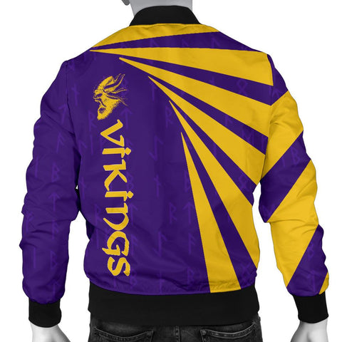 1stIceland Viking Bomber Jacket, Minnesota Vikings Football Runes TH72 - 1st Iceland