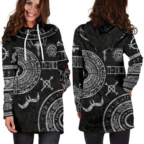 1stIceland Viking Hoodie Dress, Baldur Norse Mythology Tattoo K4 - 1st Iceland