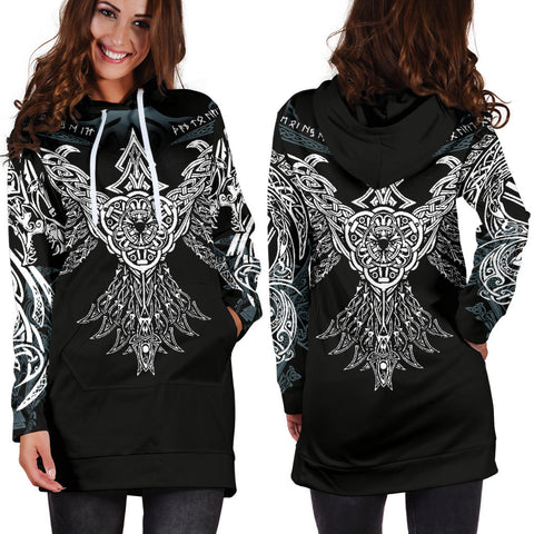 Image of 1stIceland Viking Hoodie Dress , Raven Th00 - 1st Iceland