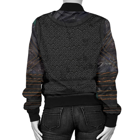 1stIceland Vikings Bomber Jacket for Women , New Raven 3D Armour Th00 - 1st Iceland