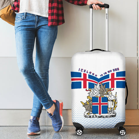 Image of 1stIceland Luggage Cover, Iceland Coat Of Arms Is In My DNA K7 - 1st Iceland