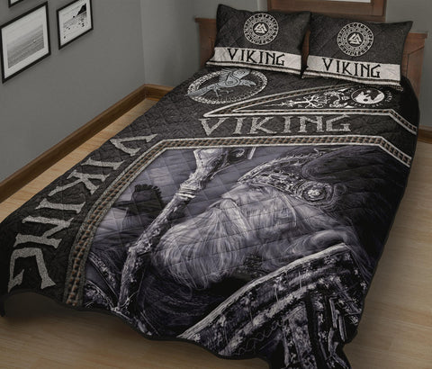 Image of 1st Iceland Viking God Metal Quilt Bed Set TH12