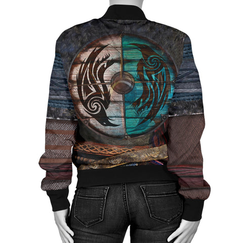 1stIceland Viking Armor Valhalla Bomber Jacket For Women K4 - 1st Iceland
