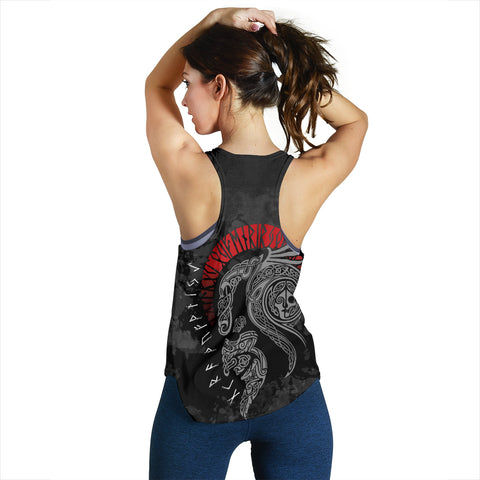 1stIceland Viking Floki Women's Racerback Tank TH12 - 1st Iceland