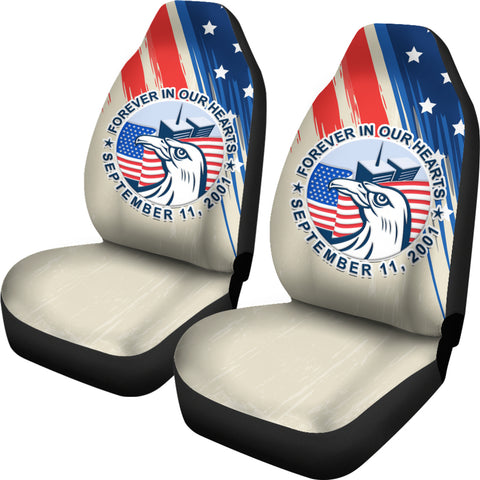 1stIceland American Firefighters Sacrifice 9.11.01 Car Seat Covers K8 - 1st Iceland