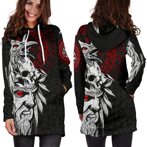 1stIceland Viking Odin And Raven Women Hoodie Dress TH12 - 1st Iceland