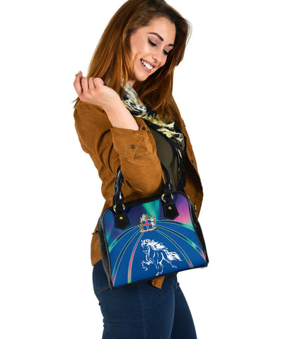 1stIceland Pullover Shoulder Handbag, Icelandic Horse Coat Of Arms Northern Lights K4 - 1st Iceland